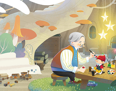 picture book《Pinocchio》