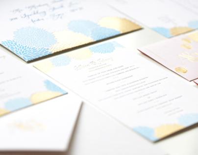 Festive Pom Pom Invitation Design