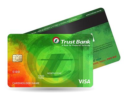 Trust Bank Limited VISA Card Design