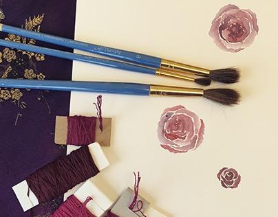 Watercolor Rose Sketches
