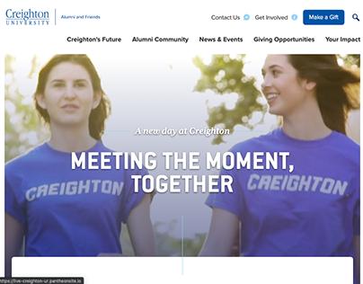 Creighton Univ Relations - Alumni Website Redesign