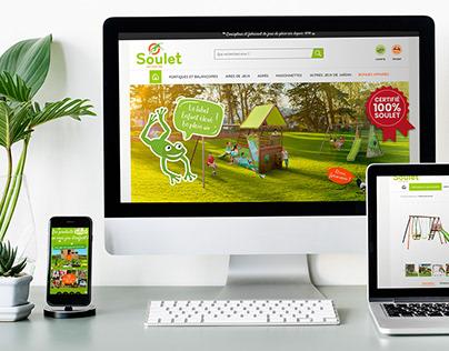 Soulet.com - Refonte de site / DA & Webdesign