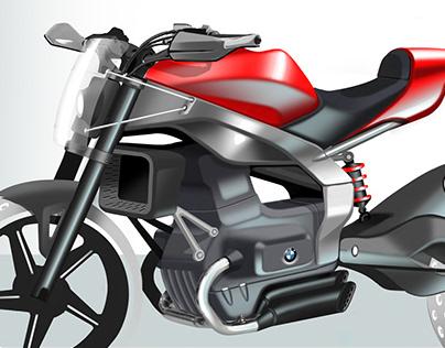 BMW moto sketch