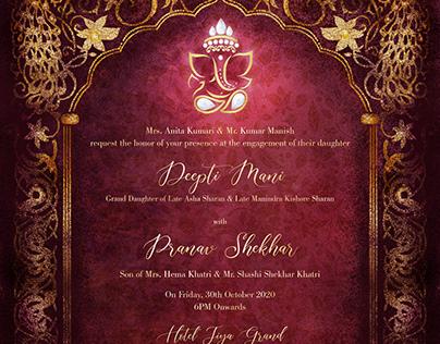 Engagement Invitation Design