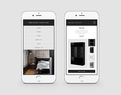 Røbinsøn Furniture Online Store UX