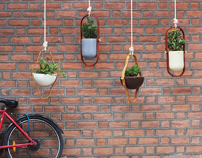 Urban Nests: Ceramic and Wooden Planters