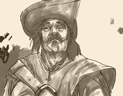 Pirate King Sketch - Character Design