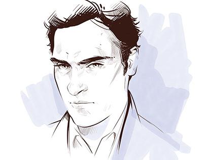Portrait digital drawing