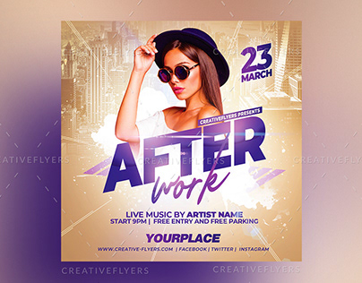 After Work Flyer Template | Photoshop