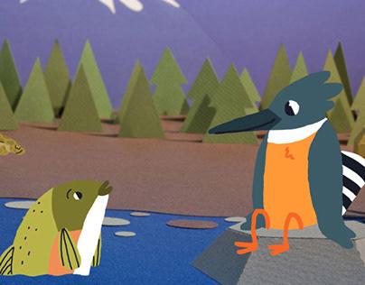 The Kingfisher & the Salmon | interactive e.book
