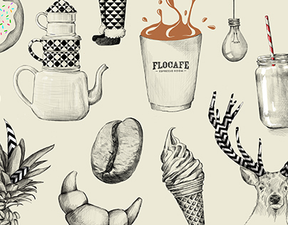 Flocafe Calendar Illustration