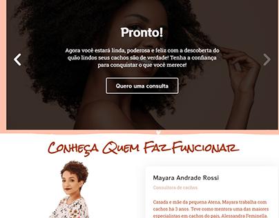 Mayara Cachos - Site Institucional One Page