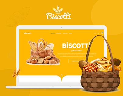 Biscotti Website Design