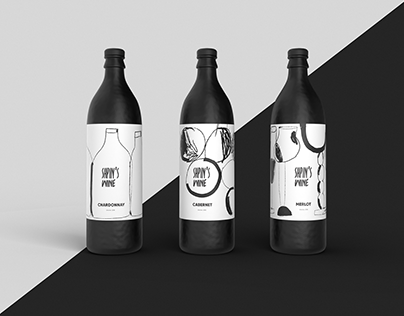 Spin's Wine Branding: Identity Design and Illustrations