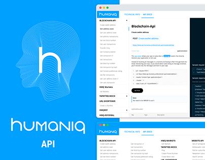 Humaniq API website
