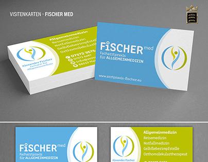 Fischer med - Visitenkarten