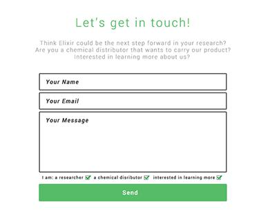 Elixir Website - User Interface Design