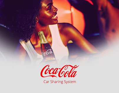 Coca Cola Car Sharing Mobile app UI/UX Design