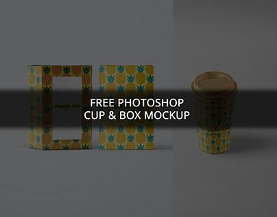 FREE PS CUP AND BOX MOCKUP