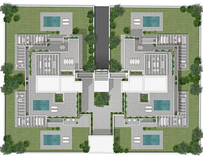 Masterplan 2d rendering in Madrid