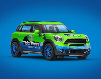 Tidal Wave Car Wash Logo & Branding