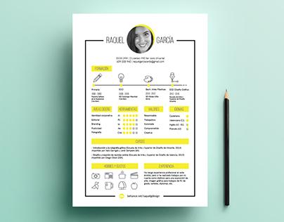 Currículum Vitae - Raquel García