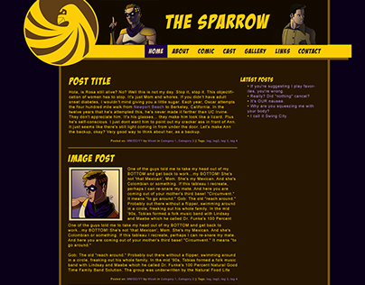 Sparrow Comics Website Mockup