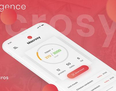 Macrosy app UI/UX - AI Food Scanner