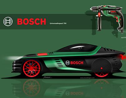 Car Design sketch inspired by Bosch Drill