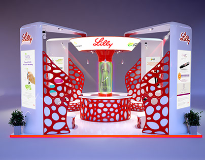 exhibition stand for lilly