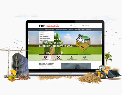 UI / UX Fujairah Building Industries Group Websites