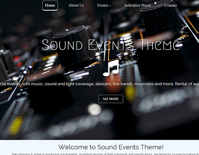 Theme for Sound Events Project
