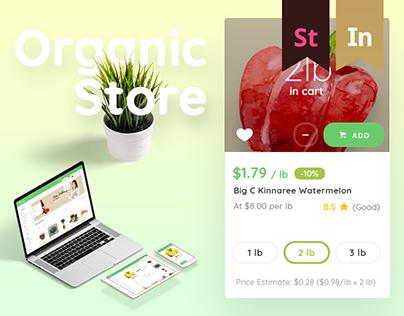 Organic Store - Mini Organic Food Market