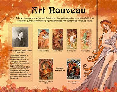 Cartaz Art Nouveau