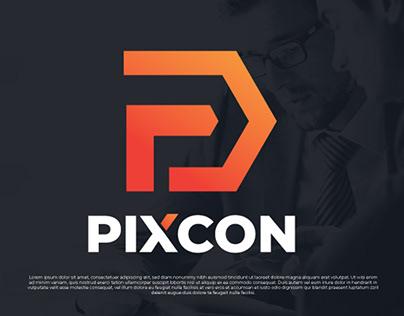 Pixcon Logo Design