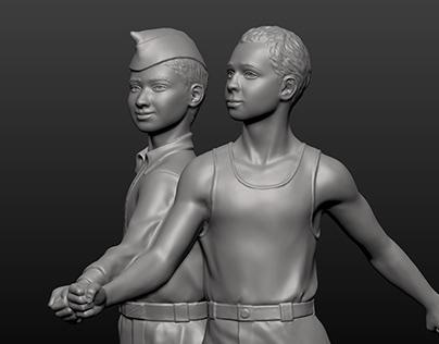 Sculptural Composition - details - The Lower Pair #5