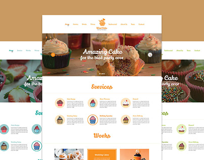 Wind Cake One Page PSD Template