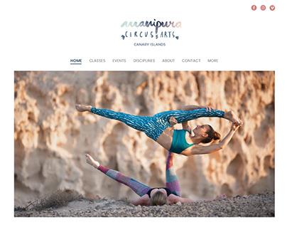 Manipura.es Circus & Arts - Website Design