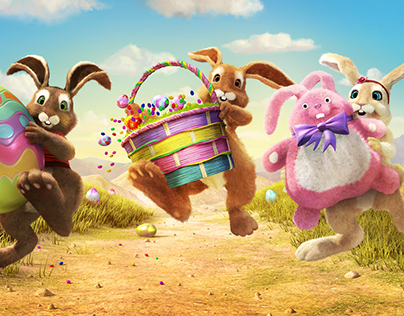 Rite Aid Easter Character Illustrations