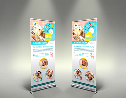 Pet Grooming Salon Signage Template