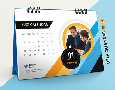 Desk Calendar Template 2021