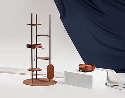 Three Poles Cat Tower - Pet Living Design