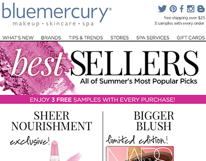 bluemercury - Seasonal email ad's (4)