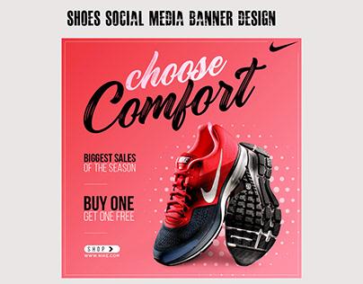 Shoe Banner Design   Social Media