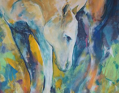 Yellow horse|Žltý kôň