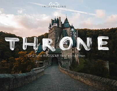 THRONE - SVG and regular OTF font