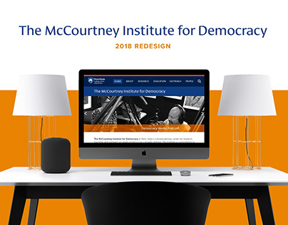 The McCourtney Institute for Democracy Website Design