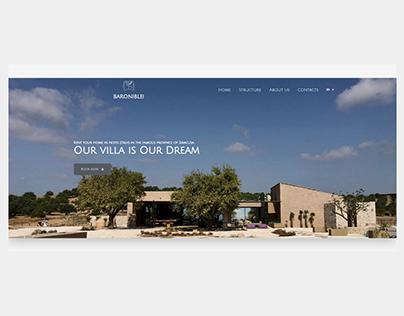 Website Design: Luxury House in italy