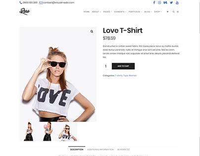 Shop Product Page - Rare Ultimate WordPress Theme