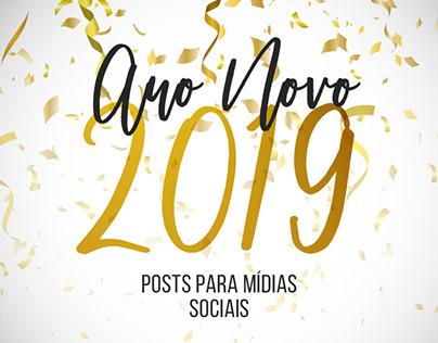 Ano novo 2019 - Social Media